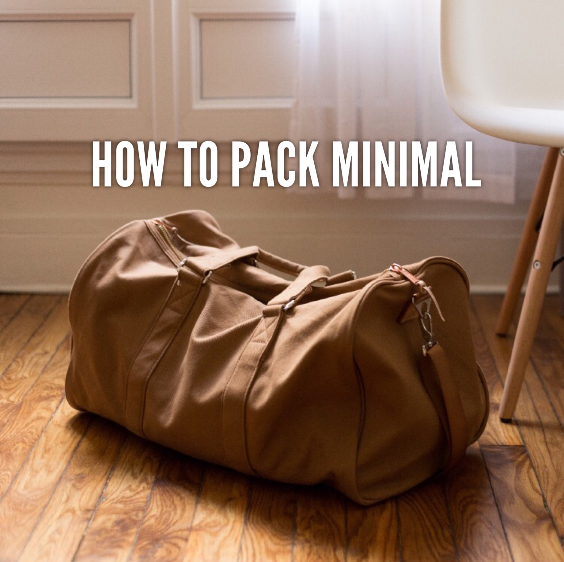 """Hacks on How to Fit Things Into Your Luggage and Being """"Minimal"""" on Packing"""