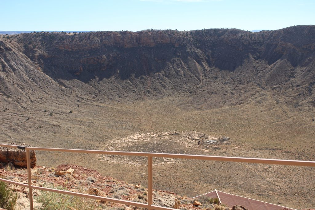 Massive meteor crater hole