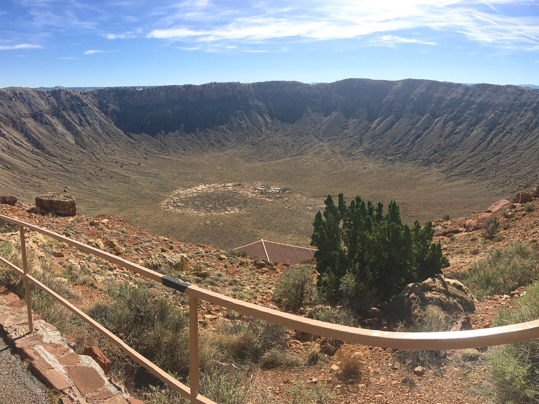 Meteor Crater in Winslow, Arizona