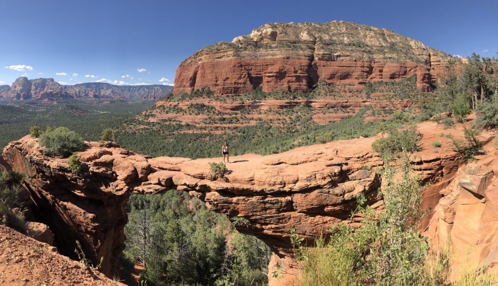 Panaromic of Devil's Bridge in Sedona