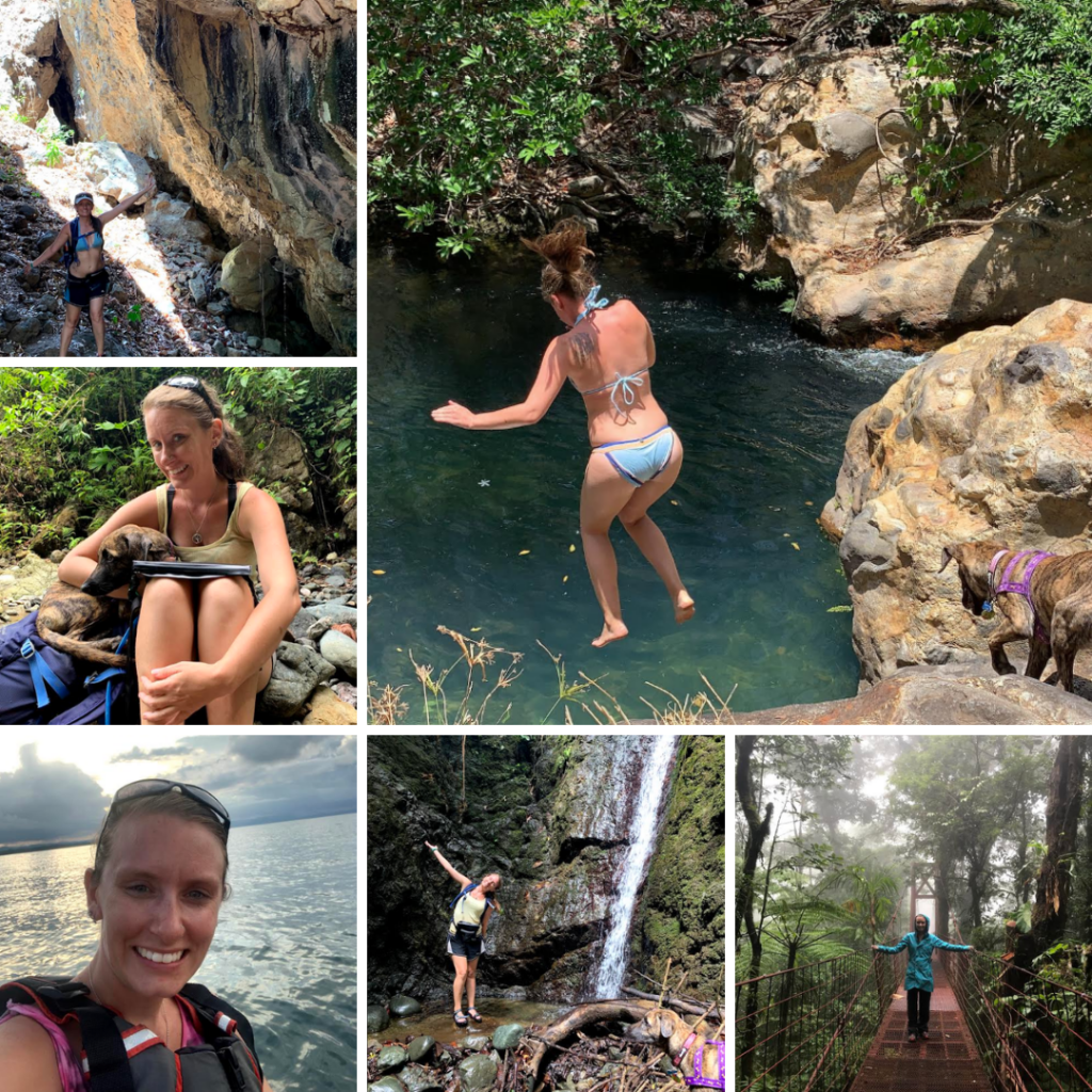 Ashley Sprinkel is found here doing adventures in Costa Rica.