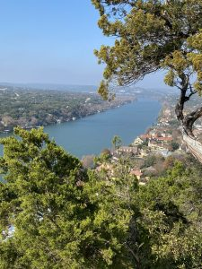 Hiking to Mount Bonnell at Covert Park in Austin, Texas