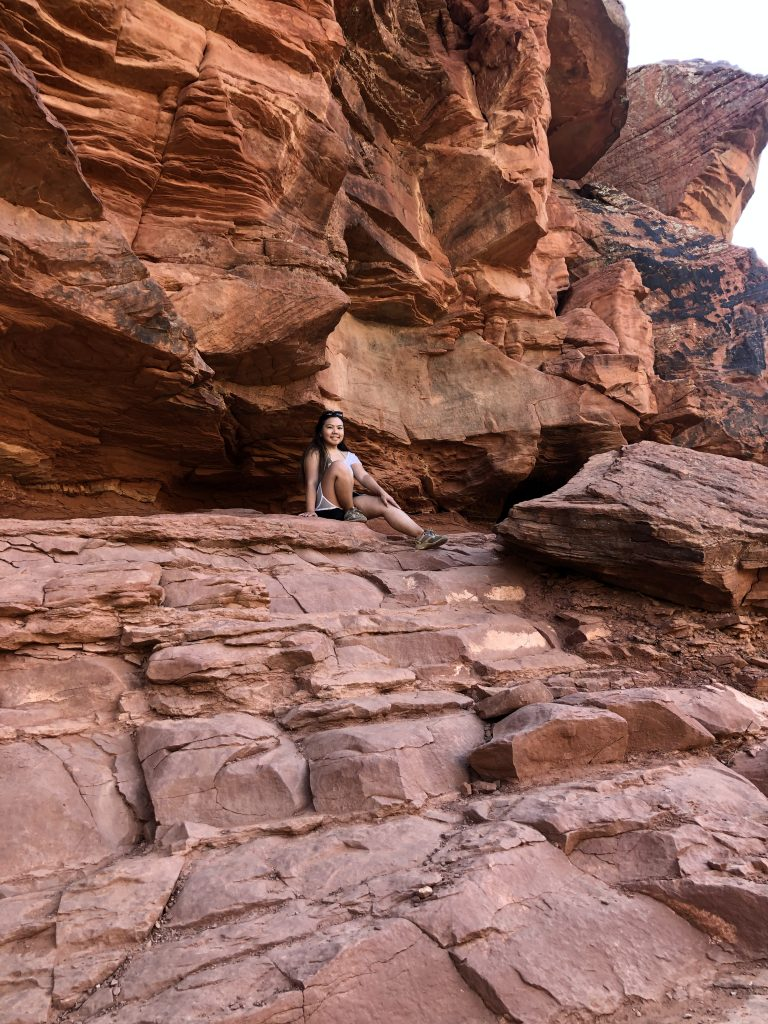 I was hiking in Sedona here. Minimalism can really be felt through exploring nature.