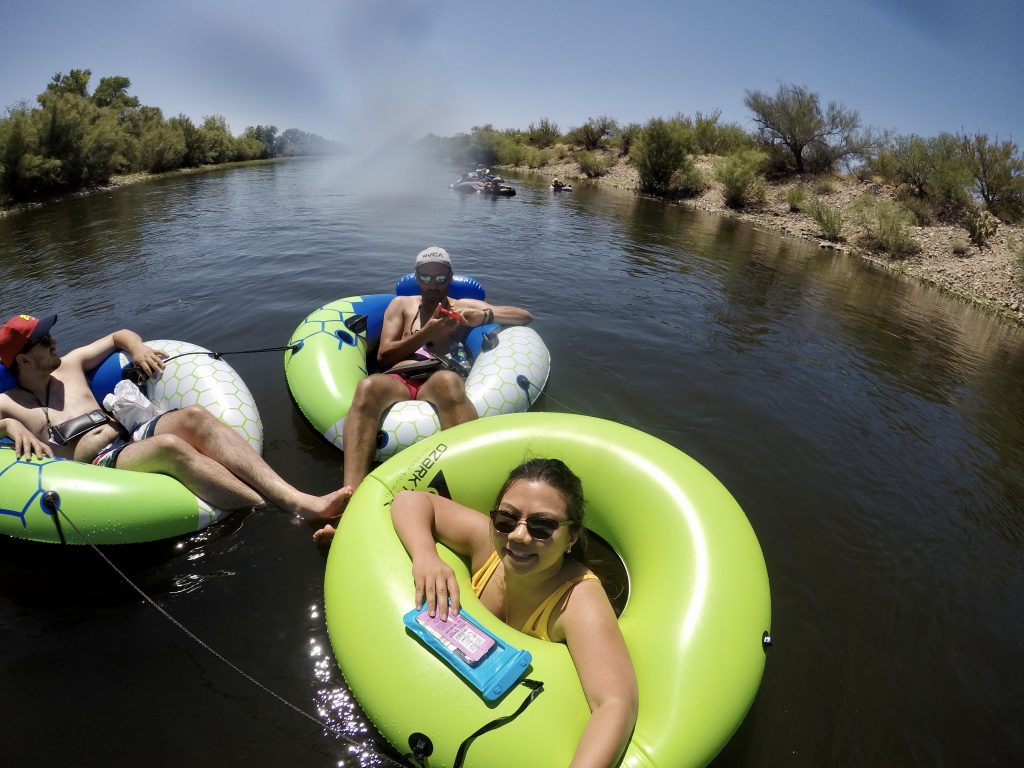 Salt River tubing with two of my friends. Photo taken on my GoPro.