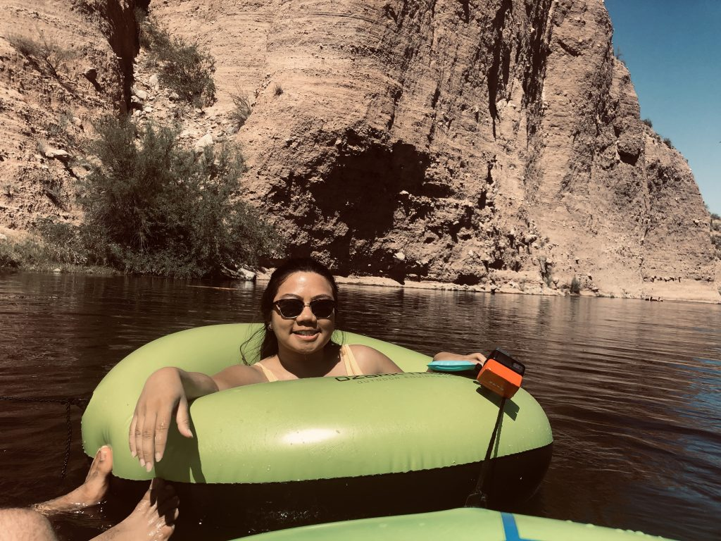 Tubing by the gorgeous cliff walls you can find in the Salt River