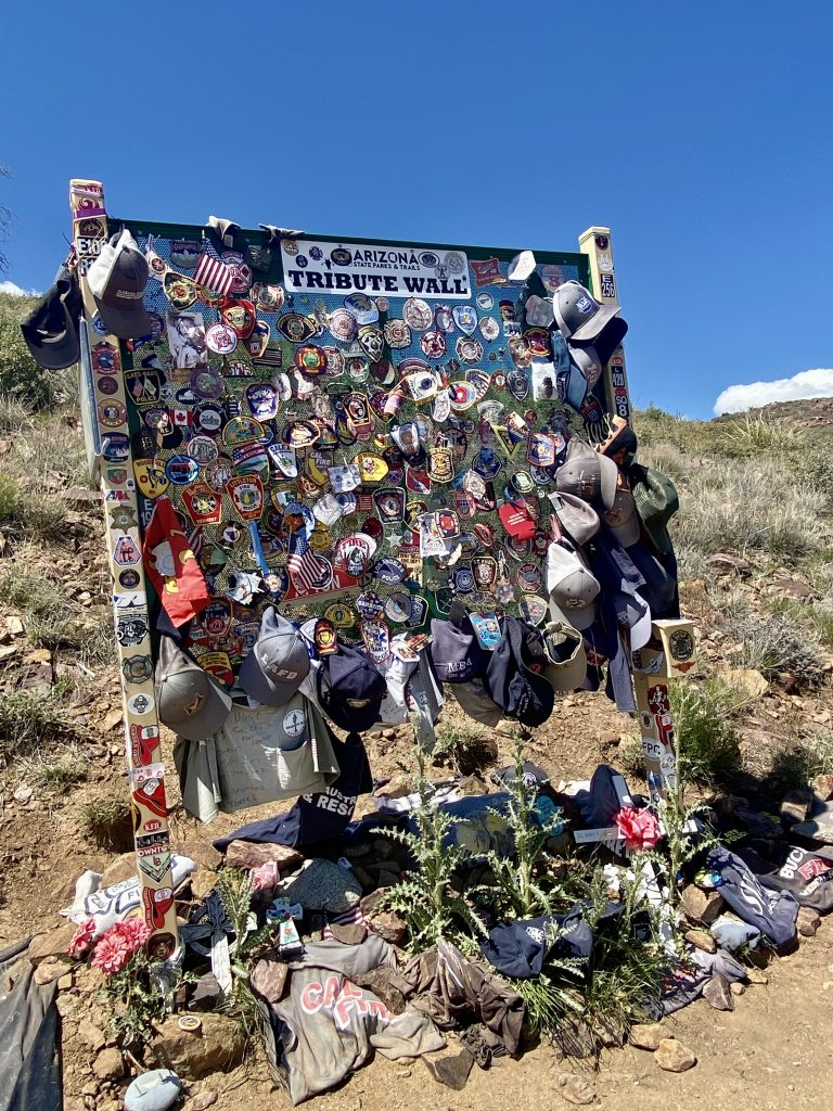 The Tribute Wall at Granite Mountain Hotshots Memorial State Park