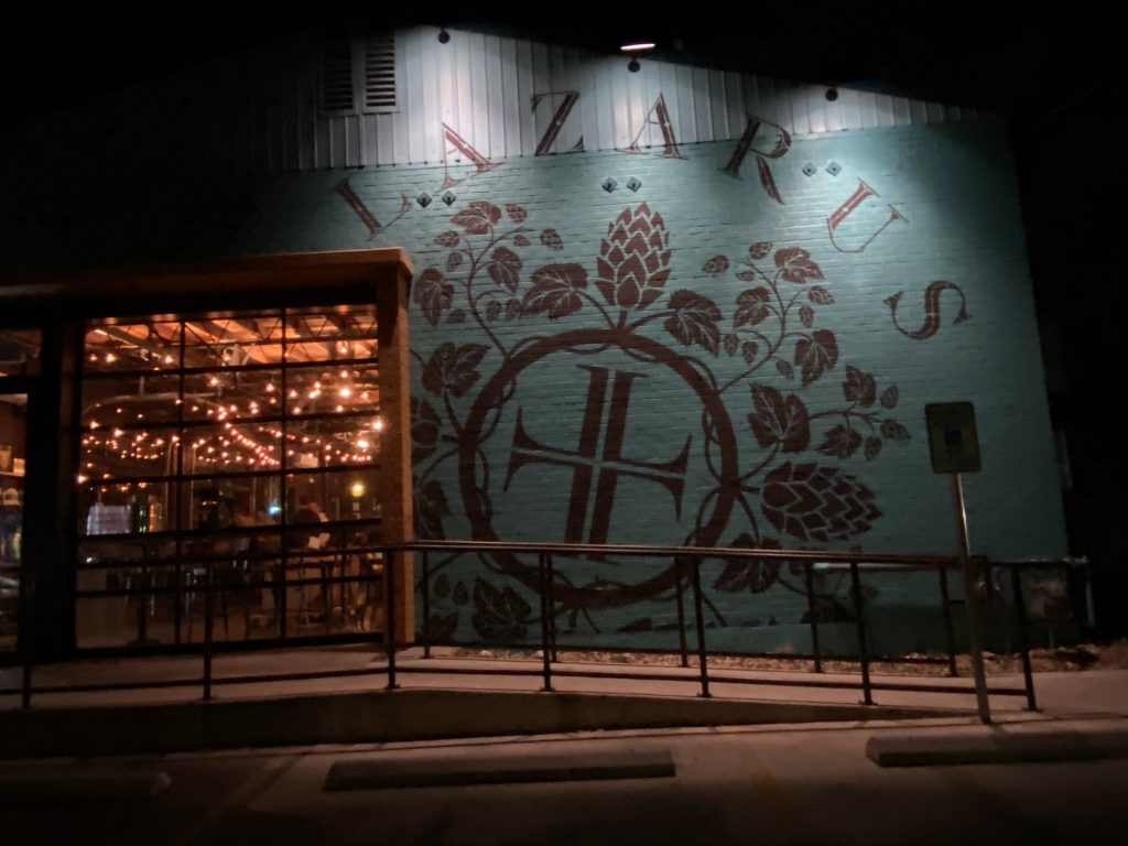 Lazarus Brewing Co. on the outside