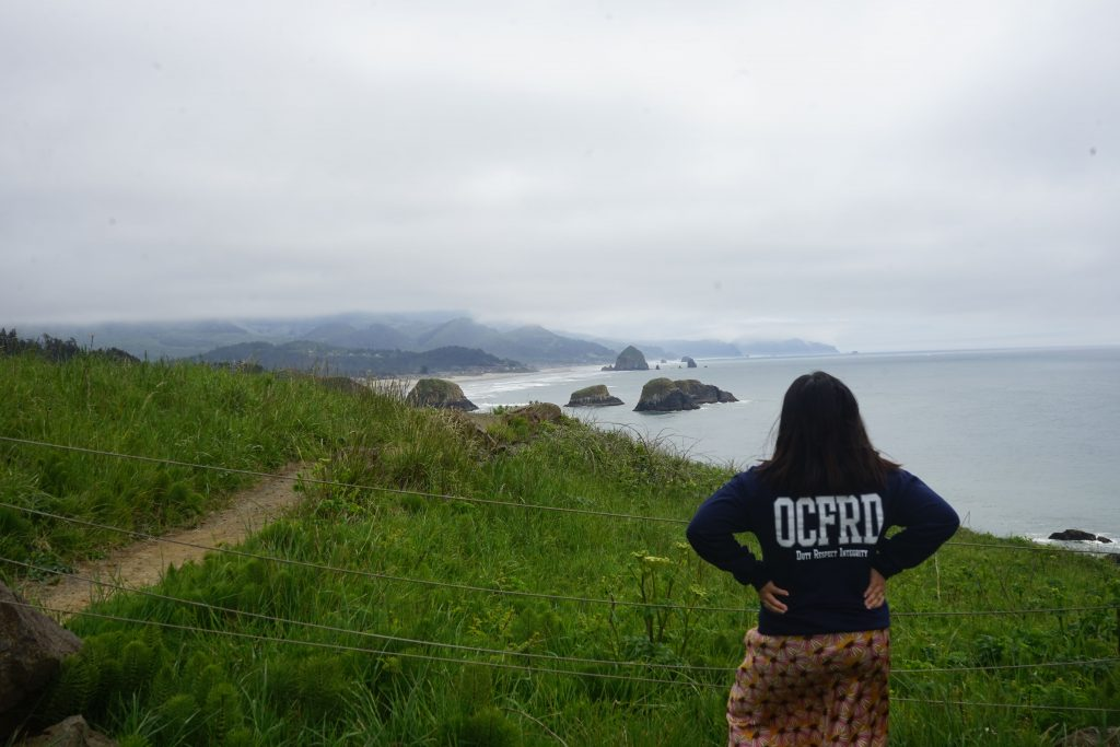 Overlooking Cannon Beach from Ecola State Park
