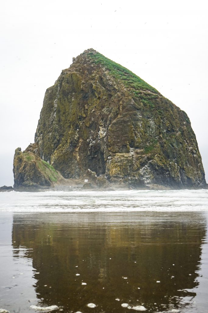 The famous Haystack Rock of Cannon Beach, Oregon