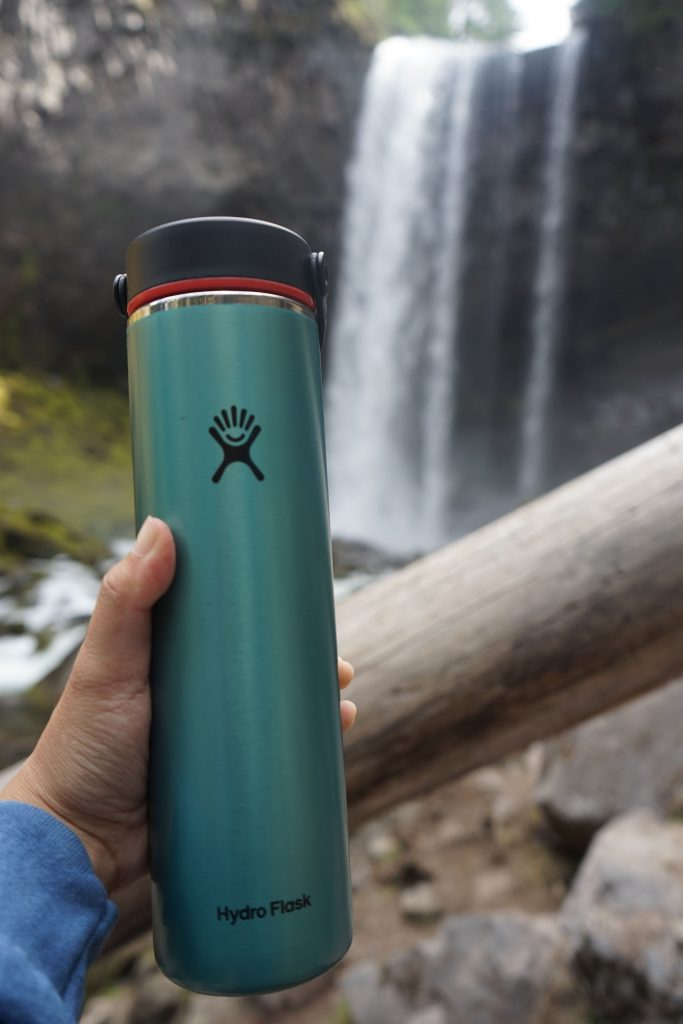 Hydro Flask  24 Oz Lightweight Wide Mouth Trail Series bottle and Tamanawas Falls