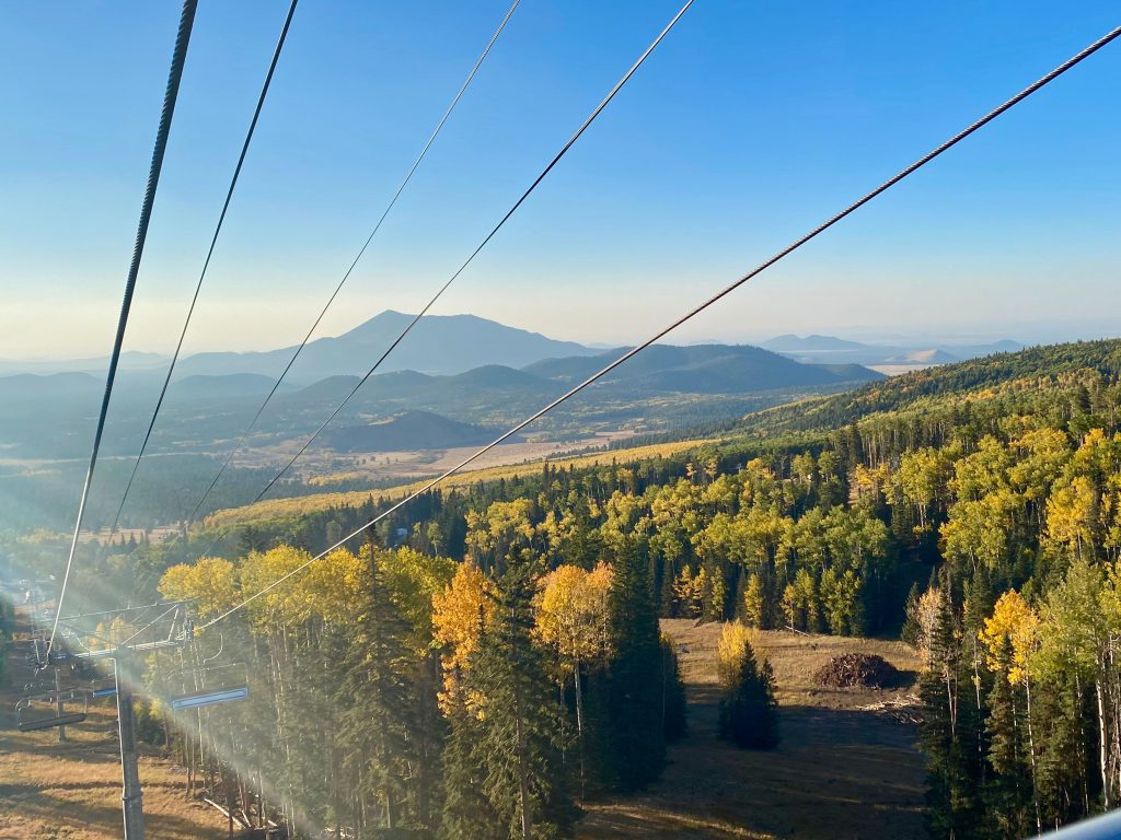 Arizona Snowbowl Scenic Chairlift (during fall time)