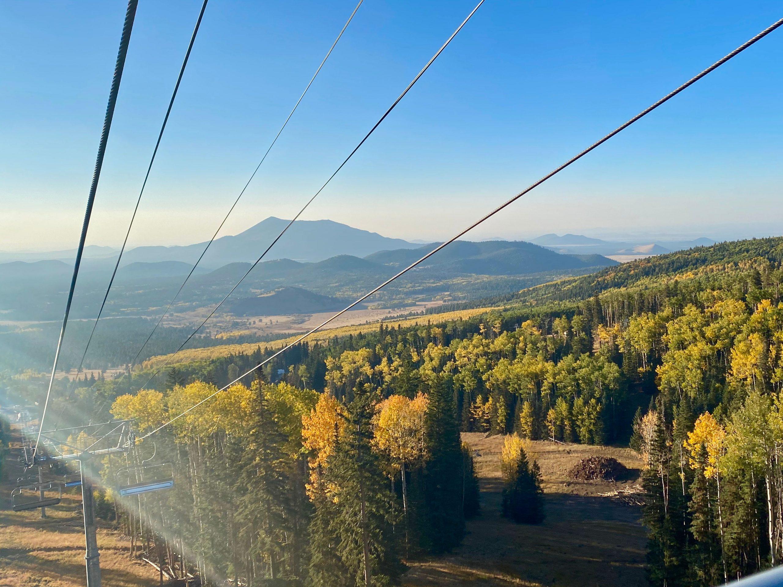 Arizona Snowbowl Scenic Chairlift in Fall
